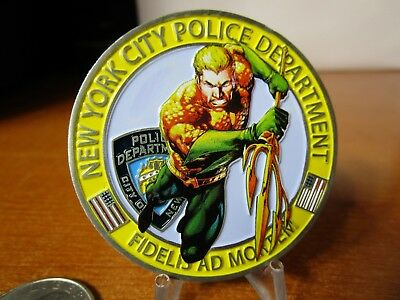 New York City Police Department Aquaman NYPD Challenge Coin #5149