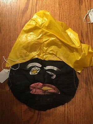 Vintage Halloween Cloth gauze 1930's Black Face Mask !