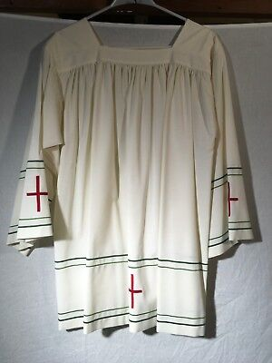 Granda Surplice no wrinkle with Embroidery (Traditional, Liturgy, Vestment, Mass