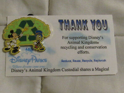 Wdw Disney Cast Member Custodial Ak Thank You Pin Mickey Jiminy Cricket