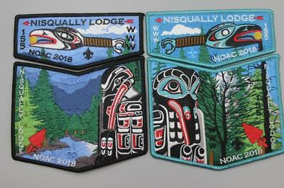 NOAC 2018 Patch Nisqually Lodge 155 Totem 4Pc Set Order of the Arrow Set