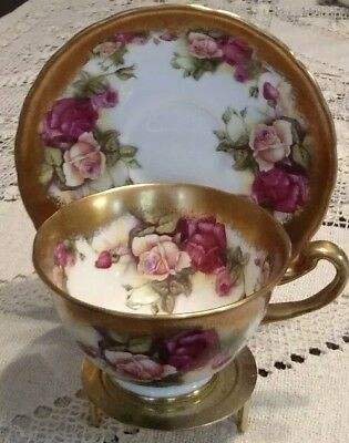 Royal Chelsea Golden Rose Tea Cup And Saucer England