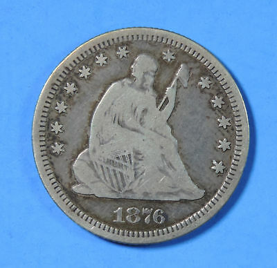 1876 CC US Silver Seated Liberty Quarter Type Coin Carson City