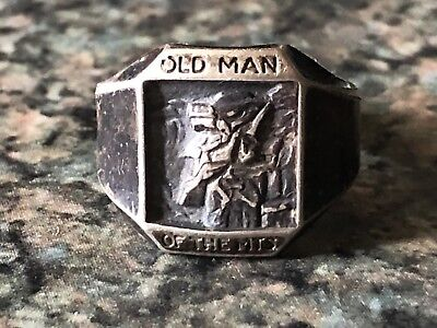 Rare Vintage New Hampshire Ring Old Man Of The Mountain Great Stone Face