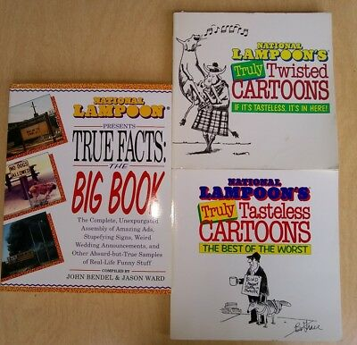 """Lot of 3 """"National Lampoon"""" Paperback Books"""