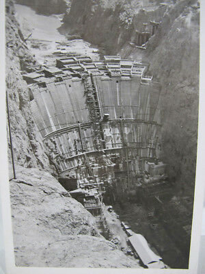 May 1935 Real Photo Snapshot of Boulder Dam / Hoover Dam Being Constucted NR yqz