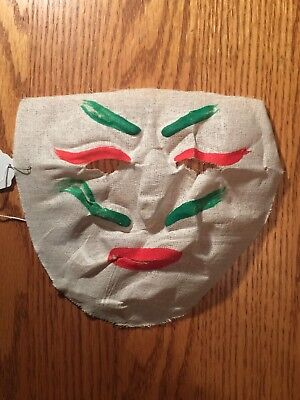 Vintage 1930's Halloween Homemade Clothe Gauze face Mask....  Very nice !