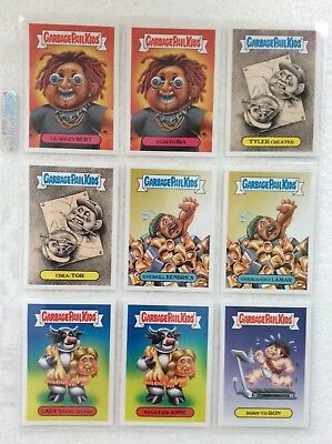 "Garbage Pail Kids 2018 "" The Shammys"" 10 Sticker Complete Set"