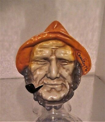 Vintage Old Man & The Sea Captain Cast Iron Souvenir Ocean City Md Wall Hanging