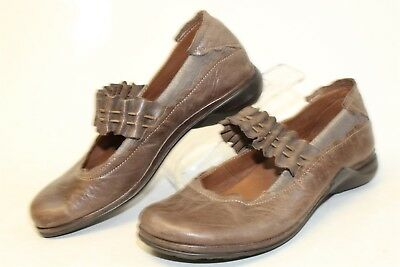 Romika Womens 36 5 Brown Distressed Leather Mary Janes Shoes gj