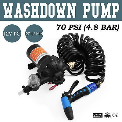 12V 70 PSI Washdown Spray Pump Kit 5.5 GPM CE Approved Singflo Boat Marine