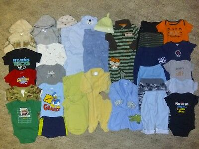 Infant Baby Boys Size 0 3 6 mos Lot Swaddle Me Outfits Sets Pants Shirts Sleeper