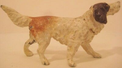 "Handsome Antique Metal Toy Dog Figure 4 1/4"" Ch Bay Retriver Germany 1925 Nice!"
