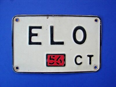 VINTAGE 1956 Auto Car Connecticut CT ELO License Plate ELECTRIC LIGHT ORCHESTRA