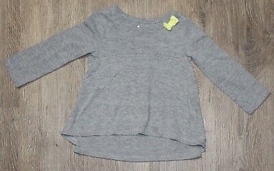 Circo Baby Girls Gray studded Tunic Style Top ~ Size 12 months