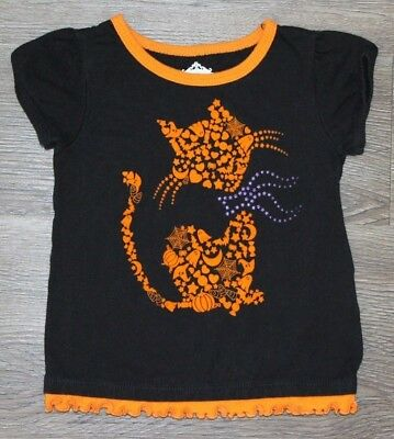 Baby Girls Toddler Halloween Cat Printed Shirt Top ~ Size 12 months