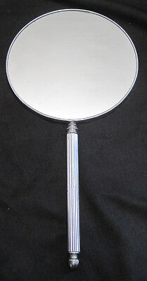 Vintage Art Deco Silver Chrome Vanity Dressing Table Hand Mirror