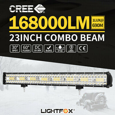 "23inch Philips LED Light Bar Combo Tri Rows Offroad Driving Work Truck 20"" 22"""
