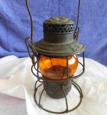 Railroad - Northern Pacific - Lantern With Short Amber Globe - Marked