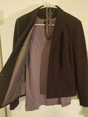 outfit blazer top and beaded necklace all purple size 12/XL Worthington wet seal