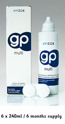 Avizor GP Multi Contact Lens Disinfecting Solution 6 Months Supply Saver 1440ml