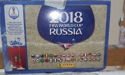 Panini Sticker Display WM 2018 (100 Tüten a 5 Sticker) OVP NEU!
