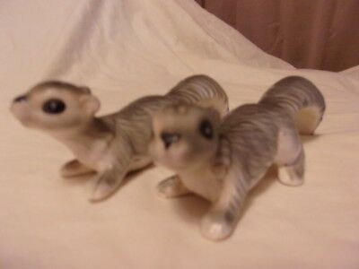 Vintage Squirrels Figural Salt And Pepper Shaker Set