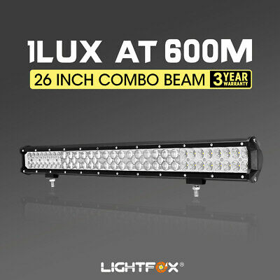 LightFox 26inch LED Light Bar HyperSpot Spot Flood Driving Lamp Offroad 4x4