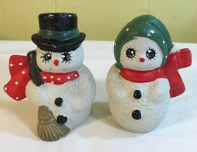 Christmas Collectible Snowman Salt And Pepper Shakers - Holiday Decoration