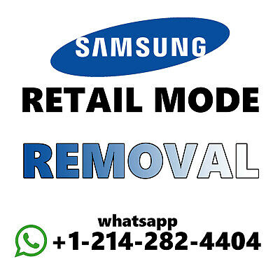 REMOVE RETAIL MODE/ Demo mode for Samsung S6/S7/S8/S9/Note 5/Note 8