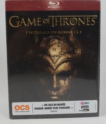 New Game Of Thrones Season 1-5 Blu-Ray Boxset! 25 Disc French Import+Region Free