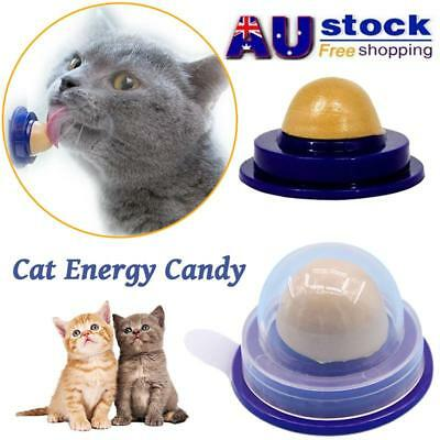 AU Healthy Cat Snack Catnip Sugar Candy Licking Solid Nutrition Energy Ball Toy