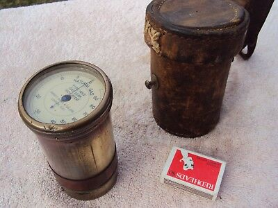 Natural Gas Leak Detector Ww2 Era English War Time Use Vintage Leather Case