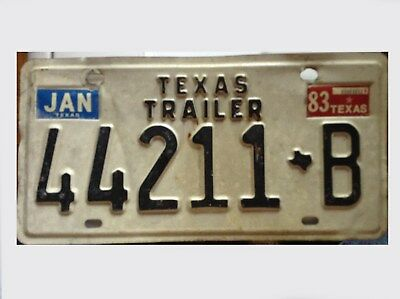 1983 Texas License Plate in Good Condition   #44211 B