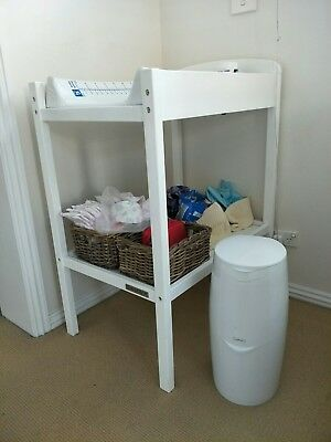 Baby change table, white