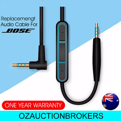 Cable Remote Mic F/ Bose QuietComfort 35 25 QC35 QC25 Headphone For Android AU