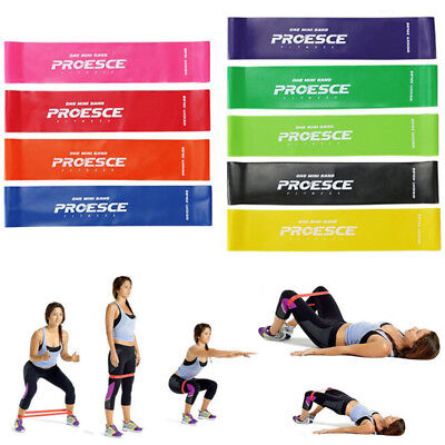 Resistance Bands Workout Fitness Yoga Gym Strength Training Athletic Rubber Band