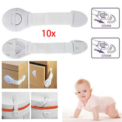 Toddler Baby Kids Child Safety Lock Proof Cabinet Drawer Fridge Cupboard Door
