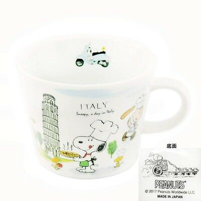 SNOOPY PEANUTS Mino ware ceramic mug cup world tour series set of 4 for gift F/S