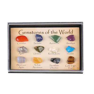 AU 15 Stones Polished Healing Crystal Natural Gemstone Collection Stone Kit Set