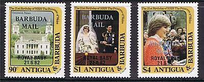 Barbuda 1982 Birth of Prince William SG 632/4 MNH