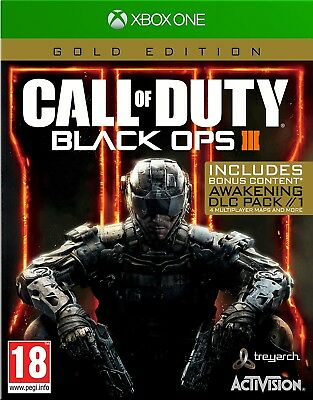 Call of Duty Black Ops 3 III Gold Edition For XBOX One (New & Sealed)