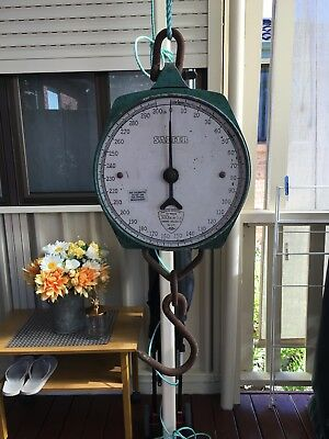 Vintage Salter Hanging Scales Made in England 300lb Weight Original Cond.