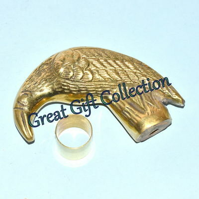 Solid Brass Crow Handle Head For Walking Stick Canes Shaft Wood Brass