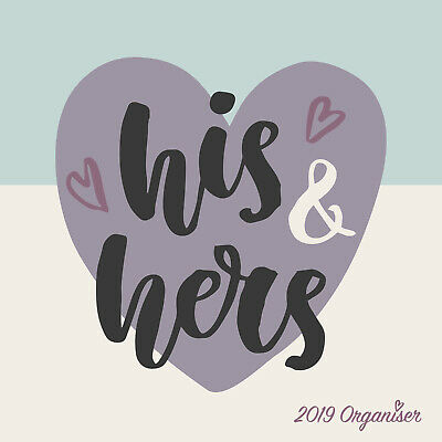His & Hers - 2019 Wall Calendar 16 month Premium Square 30x30cm (W)