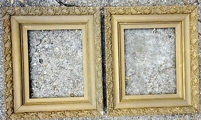 """Pair Of Antique 19Th C Gilt And Gesso Frames  15"""" By !3"""""""