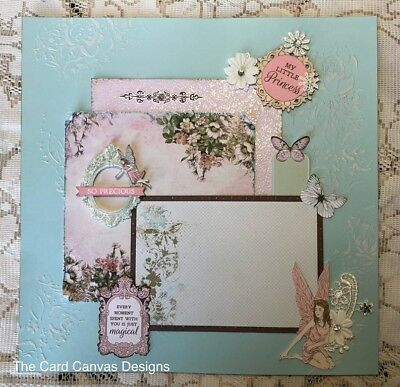 Handmade Scrapbooking Page - FAIRY Theme