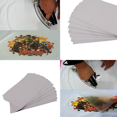 50Pcs sheets A4 Iron Heat Transfer Paper Tattoo For The Dark Cotton T-shirt OZ