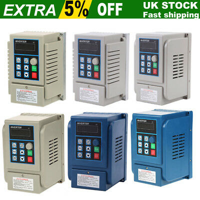 AC 220V 0.75/2.2KW 5A Single Phase Variable Frequency Speed Drive VFD Converter