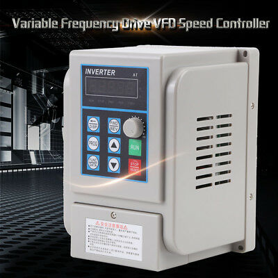 1.5KW 3HP 220V Single To 380V 3 Phase Variable Frequency Drive Converter 12A NEW